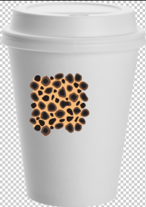 the pasted pattern in Photoshop.