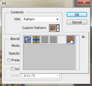Select to fill the entire layer with your pattern. You can do this with your own pattern or texture as well.