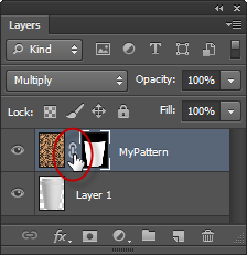 Click on the Chain icon in between the layer thumbnail and the layer mask.